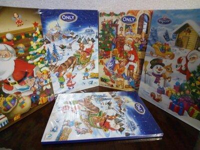 Новогодний шоколадный адвент календарь 24 фигурки Супер подарок на Николая,новый год и Рождество