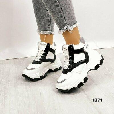 Женские зимние кроссовки ботинки на платформе