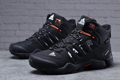 Зимние кроссовки Adidas Terrex Fast, черные, зима, мех 41-46р