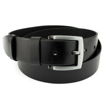 Продано: Ремень мужской кожаный широкий черный JK-4570 120 см