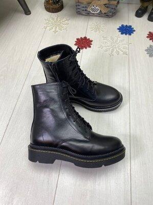 Зимние ботинки, натуральная кожа и замш, 36-41