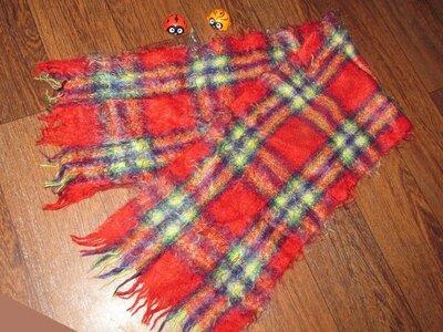Мужской шарф шерсть Ангора клетка классика - мода во все времена Ширина 27 см Длина ±140 см Состо