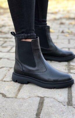 Новинка Кожаные зимние ботиночки, очень красиво смотрятся на ножке