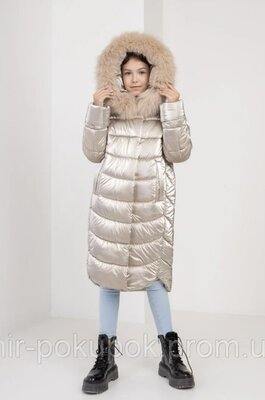 зимняя куртка пуховик на девочку 116-122,122-128,128-134,134-140,140-146,146-152,152-158