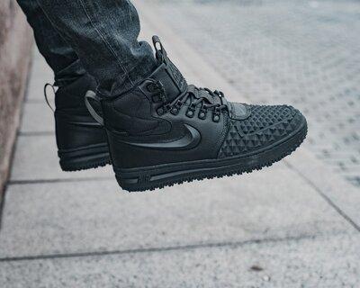 Зимние Мужские Кроссовки Nike Lunar Force LF1 Mex Black AAA