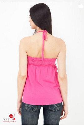 Летний топ блузка с завязкой на шее жатая ткань marks spenser