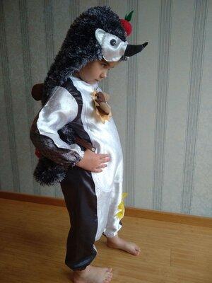 Костюм їжака їжак ежа ежака ежика на новый год, утренник детские карнавальные костюмы. прокат пошив