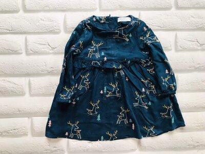 Продано: M&S стильное платье на девочку 18-24 мес