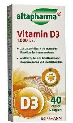 Витамин D3 Altapharma 40 шт.