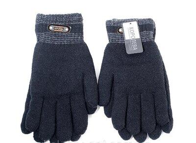 Перчатки мужские двойные с искусственным мехом