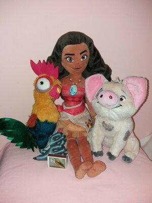 Лот 3 игрушки Моана 50 см Хэйхэй Пуа персонади из мультфильма Дисней Disney.