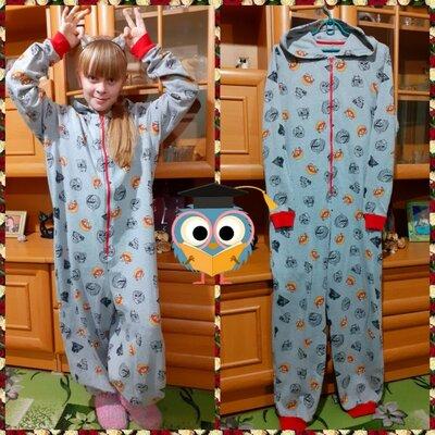 Продано: Коттоновый утепленный слип, пижама. Турция. 11-13 лет, р.150-158см
