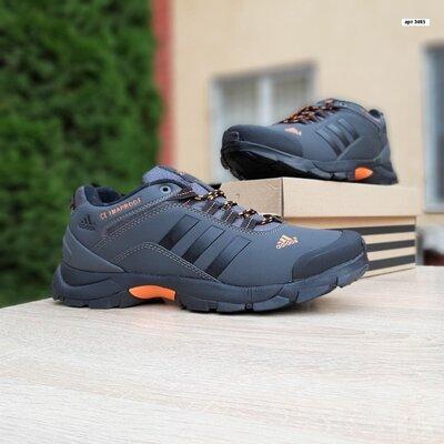 Зимние мужские кроссовки Adidas Climaproof, серые, мех