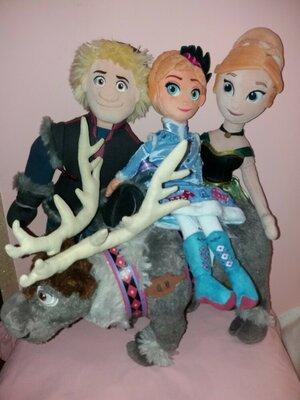 Лот 4 игрушки Свен Кристофер Эльза Анна 50 см из мультфильма Дисней Disney