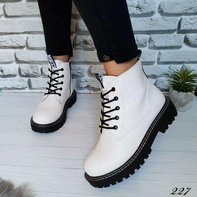 Ботинки белые женские деми