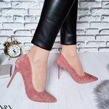 Туфли лодочки пудровые Туфлі жіночі на шпильці Туфлі рожеві