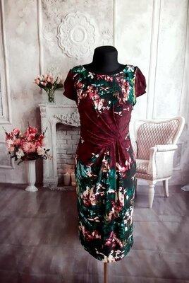 Стильное нарядное платье миди масло