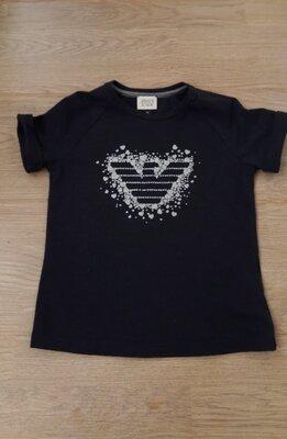 Брендовая футболка девочке 8 лет 130 см, Armani