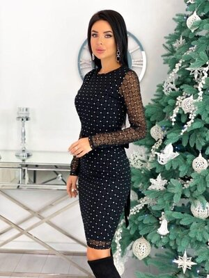Красивое платье вечернее приталенное на новый год корпоратив 40-70 размер Хит