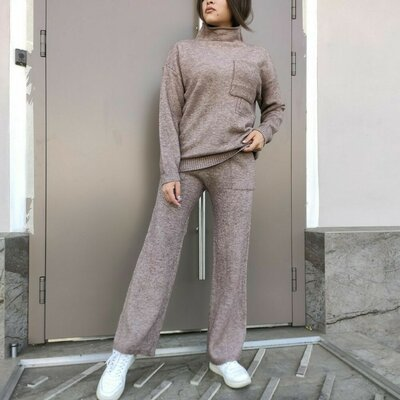 Продано: Теплый мягкий костюм Кофта оверсайз и кюлоты