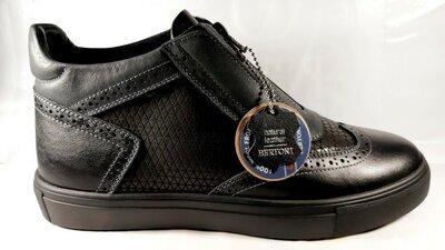 Стильные зимние ботинки-броги BERTONI.41,42,44,45.
