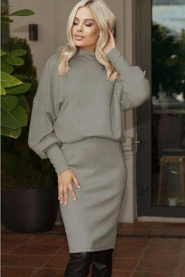 Женский ангоровый костюм с юбкой