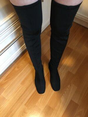 Нереально удобные крутые высокие сапоги ботфорты эластичные чулки zara