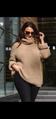 Теплый удлиненный свитерок
