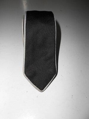Мужской галстук двухсторонний черный и серый