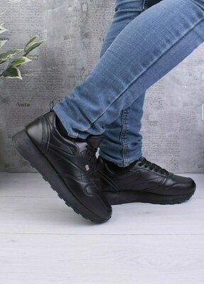 Женские зимние черные кроссовки 63321