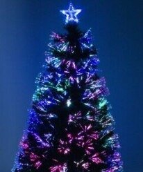 Елка Ель искусственная рождественская из оптоволокна светится всеми цветами.