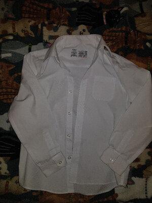 Рубашки с длинным рукавом для мальчика Marks&Spencer, размер 8-9, б/у