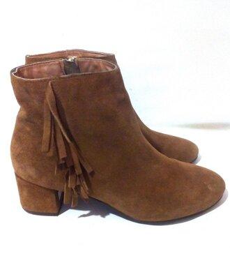 Замшевые демисезонные ботинки / ботильоны от бренда next, р.39-40 код b4002