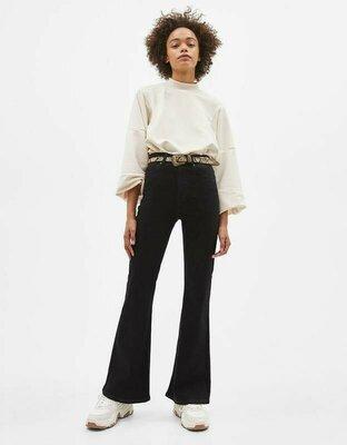 Крутые черные джинсы клеш с высокой талией Next, 14 размер.