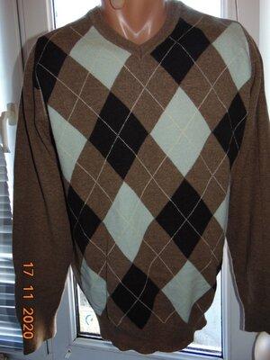 Стильная фирменная шерстяная нарядная кофта свитр полувер джемпер бренд Next Некст .м-л