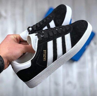 Мужские черные кроссовки в стиле Adidas Gazelle, мужские кроссовки адидас газель Реплика Ааа