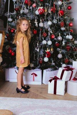 Платье свободного прямого кроя Арина 104-152р. М