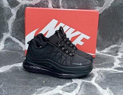 Подростковые Кроссовки Nike Air Max 720 черные,красные,демисезонные