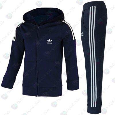 Теплый спортивный костюм для мальчика Адидас 128р -164р
