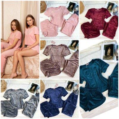 Плюшевая пижама костюм для дома и сна S M L