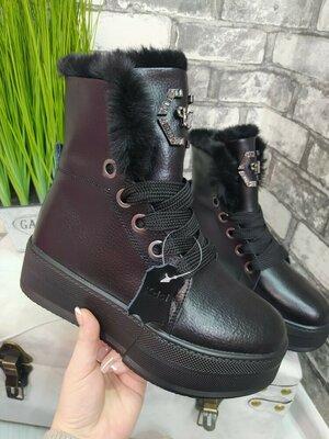 Продано: Ботинки Зима Кожа