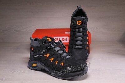 Зимние кожаные ботинки Merrell Gore-Tex Waterproof черные