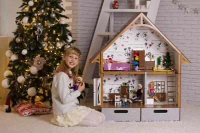 Экодом Барби с мебелью, текстилем и освещением