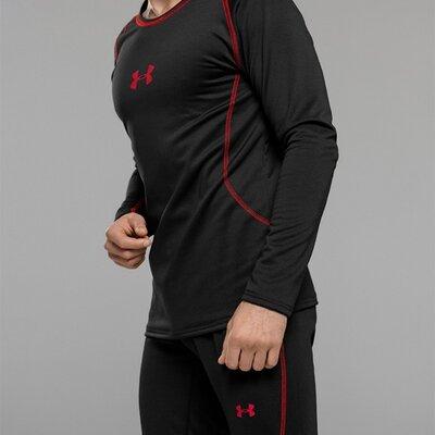 Термобелье мужское Underarmor, комплект, черное, штаны и кофта