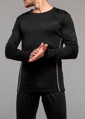 Термобелье мужское Columbia, комплект, черное, штаны и кофта