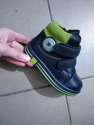 Ботинки для мальчиков мальчика синие черные синий осенние демисезонные зелёный деми