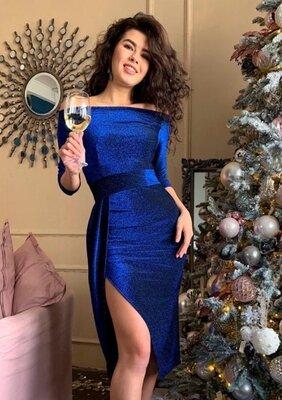 Вечернее люрексовое платье с разрезом Medea арт.880 скл.10