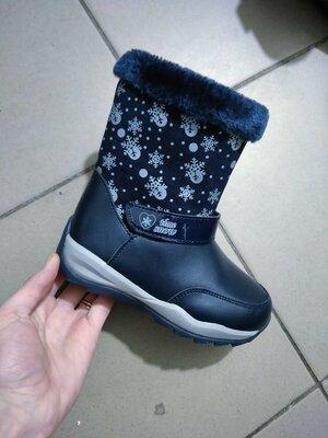 Ботинки зимние сапоги сапожки для девочек девочки синие синий спортивные