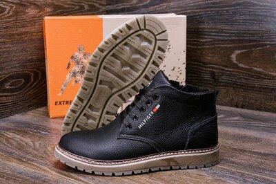 Продано: Мужские зимние кожаные ботинки Tommy Hilfiger