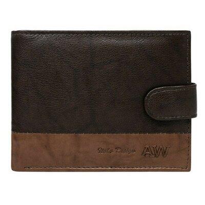 Продано: Мужское кожаное портмоне на кнопке коричневое Always Wild N992L-GA